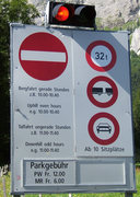 Rock Climbing Photo: The stoplight for the road to Melchsee.  The toll ...