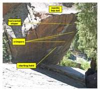 Rock Climbing Photo: Location of starting holds and crimps.
