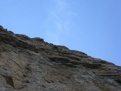 Rock Climbing Photo: Chris working up into the roofs and placing gear o...