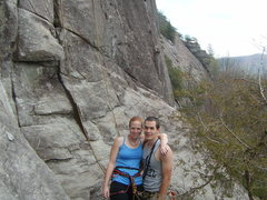 Rock Climbing Photo: Mary and I at the base of one of our favorite crag...
