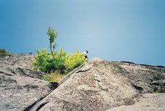 Rock Climbing Photo: Myself on the third pitch. vintage, 1989 photo. Ph...