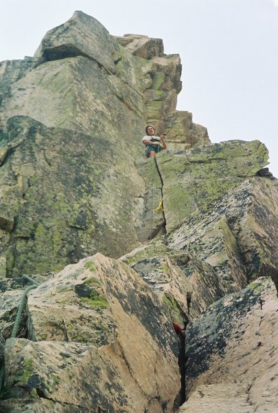 Rock Climbing Photo: Myself on top (5-8) variation 2nd pitch. Craig You...