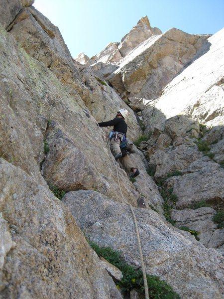 Rock Climbing Photo: E Face Direct on Mt. Neva