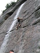 Rock Climbing Photo: In the Buff (5.7).  Wet Streak (5.8) is just to th...