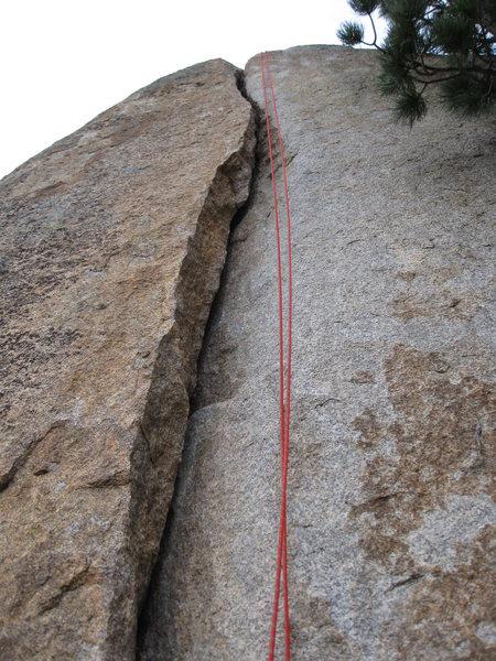 Lumpy Ridge - Yosemite Crack near Hen and Chickens crag