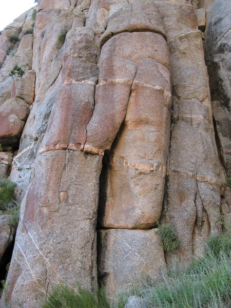 Rock Climbing Photo: Fall of Pleiades starts in the wide crack, moves l...