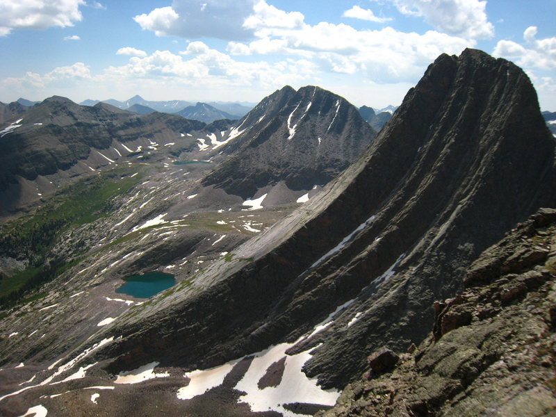 Profile of Vestal Peak from Arrow Peak.