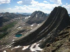 Rock Climbing Photo: Profile of Vestal Peak from Arrow Peak.