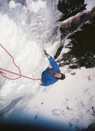 On the exit pillar. Vintage photo 1987, Ted Hammond photographer.