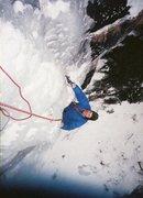 Rock Climbing Photo: On the exit pillar. Vintage photo 1987, Ted Hammon...