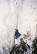 Rock Climbing Photo: Doing the traverse. Vintage photo 1987, by Ted Ham...