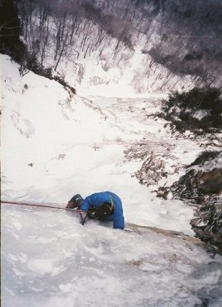 The end of the traverse. Vintage photo 1987, by Ted Hammond.