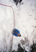 Rock Climbing Photo: Beginning the pillar. Vintage photo 1987, by Ted H...