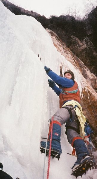Myself beginning pitch two. Vintage photo 1987 by Ted Hammond.