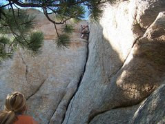 Rock Climbing Photo: Leading Crackle Crack