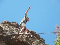 Rock Climbing Photo: trail creek line