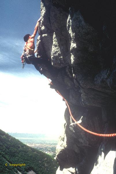 Rock Climbing Photo: Big stretch!