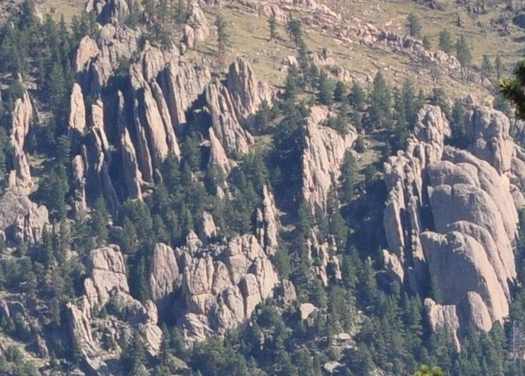 Rock Climbing Photo: The Monastery as seen from Crosier Mountain.
