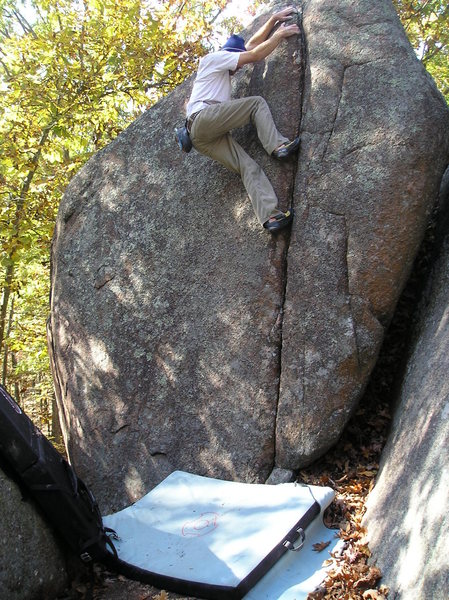Rock Climbing Photo: Nice tall crack in the Front Range area.