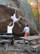 Rock Climbing Photo: Tablecloth, a Missouri classic.