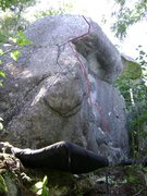 Rock Climbing Photo: Unknow soilder is in red
