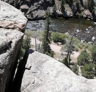 Rock Climbing Photo: Looking down from the top of pitch two. At the top...