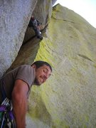 Rock Climbing Photo: Reid belaying me on The Spell (.10) Warlock Needle...