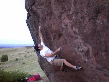 Rock Climbing Photo: Awesome boulder problem, the back step helps some....