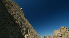 Rock Climbing Photo: Leading on the beautifully exposed second tower pi...