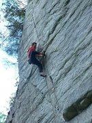 Rock Climbing Photo: Pat on the FFA