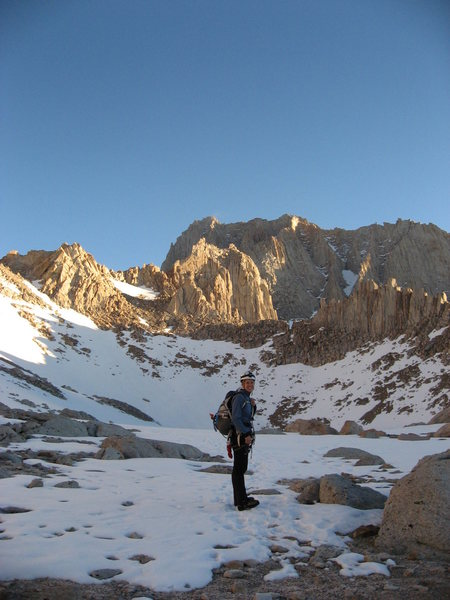 Rock Climbing Photo: On Mount Whitney