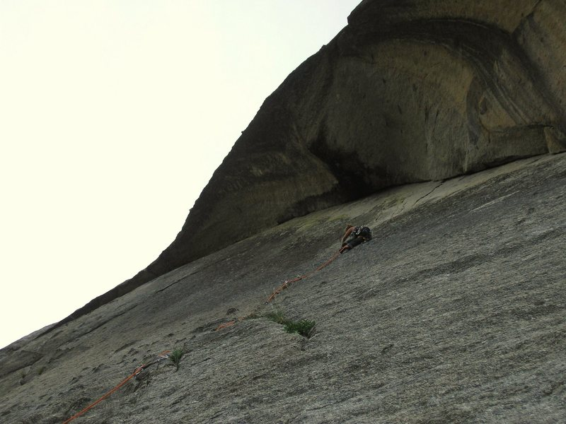 Rock Climbing Photo: Monica leading the Schizophrenic Dike under the Hy...