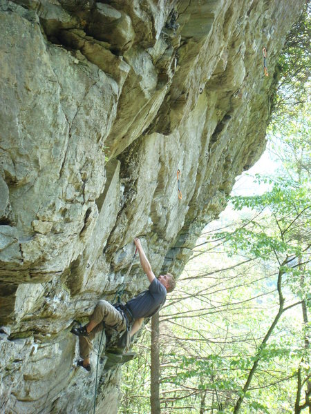 Tim Larick on the 2nd ascent