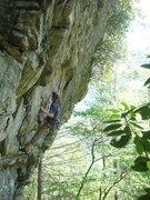 Rock Climbing Photo: sticking the crux