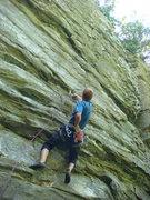 Rock Climbing Photo: Chandler on the FA