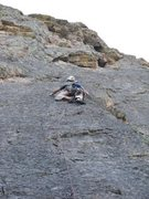 Rock Climbing Photo: The direct start climbs a clean face just to the r...