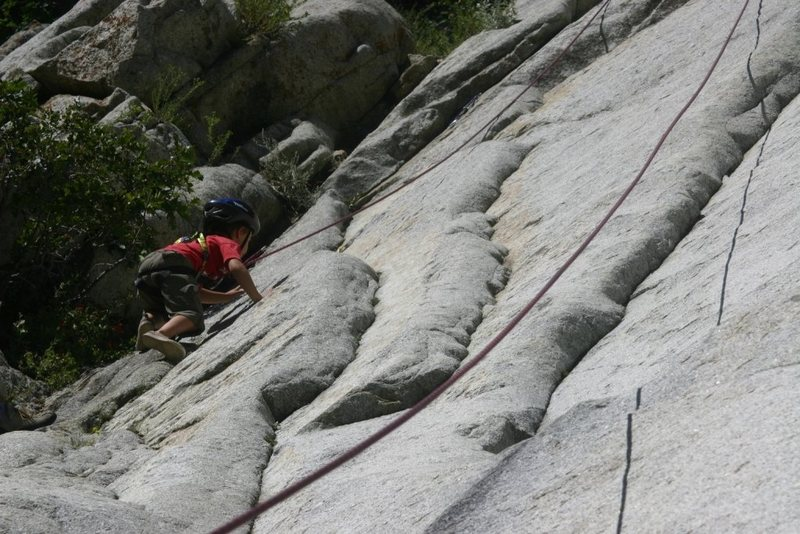 Another example of a kid friendly climbing area (when the water is low).
