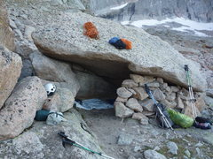 Rock Climbing Photo: Bivy hotel under N. Ridge.
