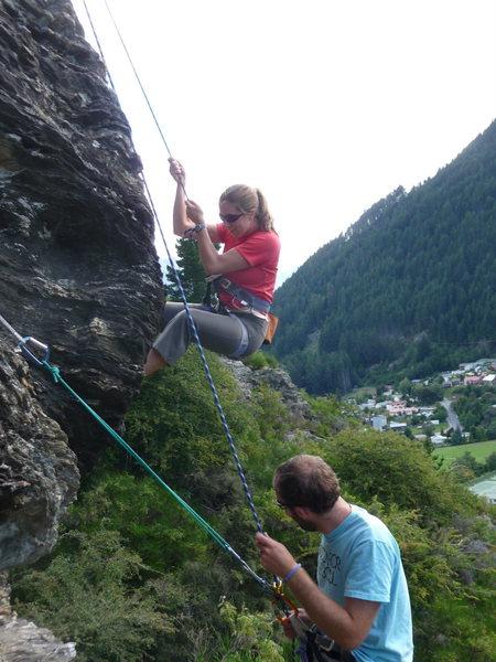 Rock Climbing Photo: Descending at Gorge Road climbing area in Queensto...
