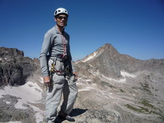 Rock Climbing Photo: On the summit of Spearhead.