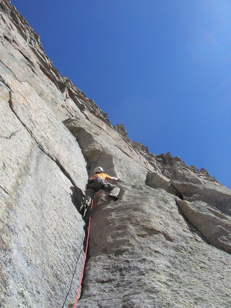 Rock Climbing Photo: Rob on the 4th pitch.