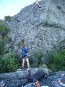 Rock Climbing Photo: Belaying at The Bone Yard, Queenstown, New Zealand...