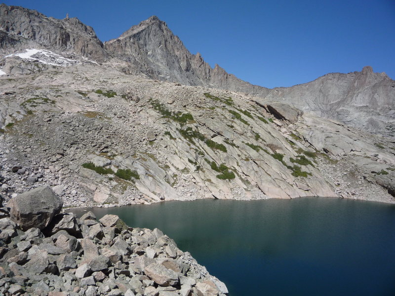 McHenrys Peak and Frozen Lake