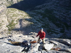 Rock Climbing Photo: Rick W. on Spearhead N. Ridge.