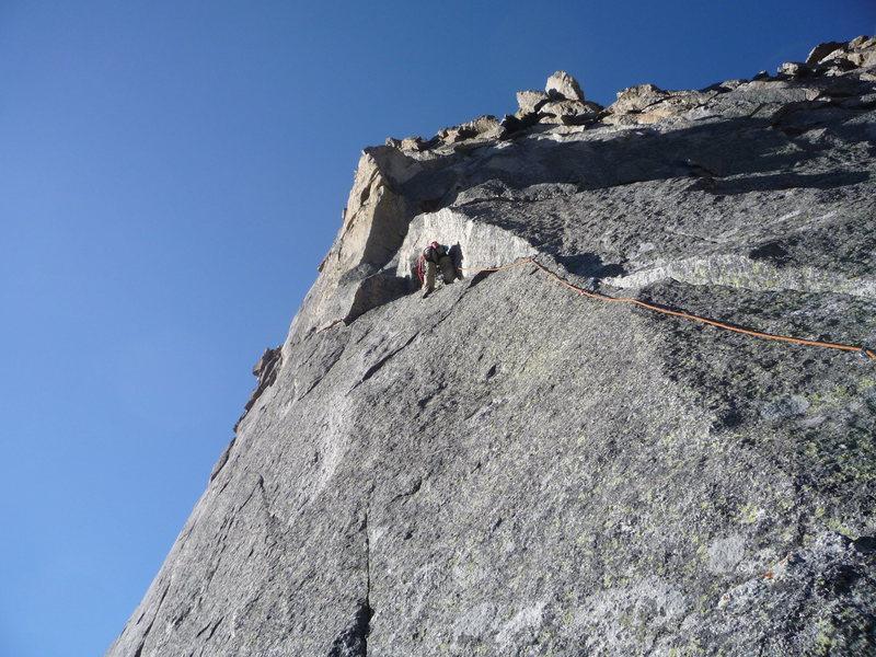 Rock Climbing Photo: 6th Pitch of N. Ridge, Spearhead.