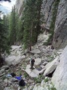 Rock Climbing Photo: B-Real be Belaying at the Wizard's Gate.