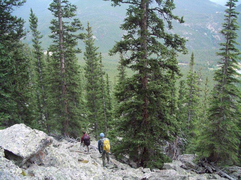 Rock Climbing Photo: Hike out.