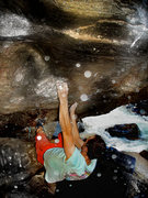 "Rock Climbing Photo: Robert Balun getting some on the ""Animal.&quo..."