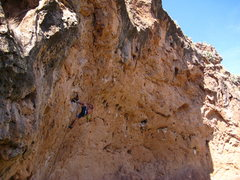 Rock Climbing Photo: Matt finishing Ghost Dancers