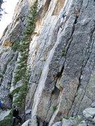 Rock Climbing Photo: Jonathan Siegrist climbing the Crystal Staircase.